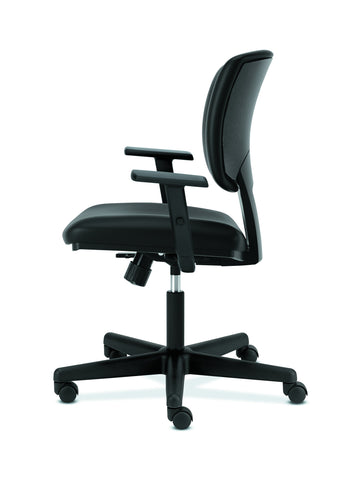 HON Volt Task Chair | Synchro-Tilt, Tension, Lock | Adjustable Arms | Black SofThread Leather ; UPC: 192767001014 ; Image 5
