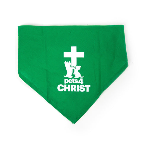 Bandana - Pets4Christ - Green