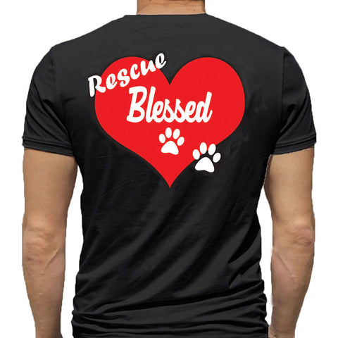 T-Shirt - Rescue Blessed - Black or White