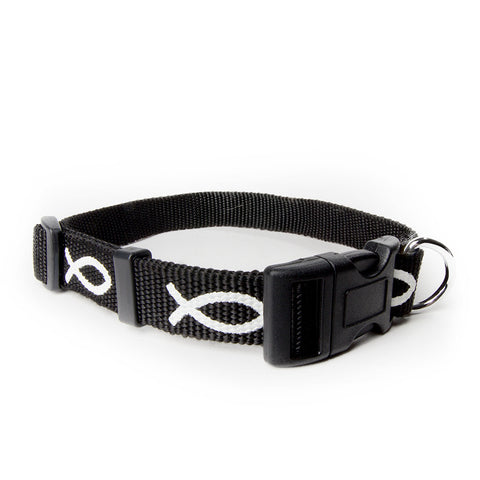 Non-Padded Collar - Fish - Black