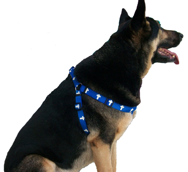 Harness - Cross - Blue