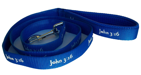 Leash - John 3:16 - Blue