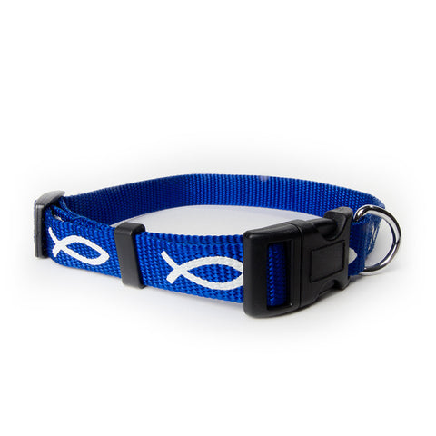 Non-Padded Collar - Fish - Blue