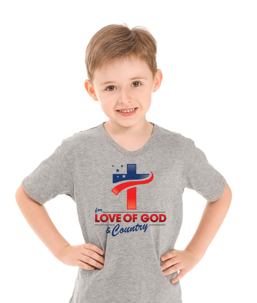 Kids - T Shirts - For the Love of God & Country
