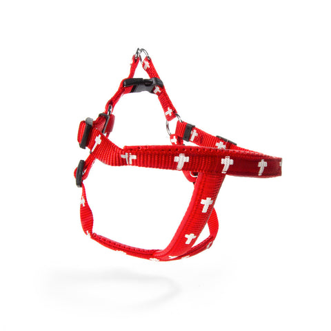 Harness - Cross - Red