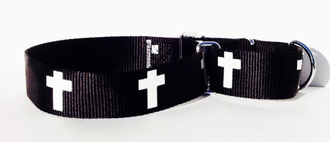 Martingale Collar - Cross - Black