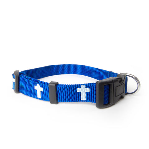 Non-Padded Collar - Cross - Blue