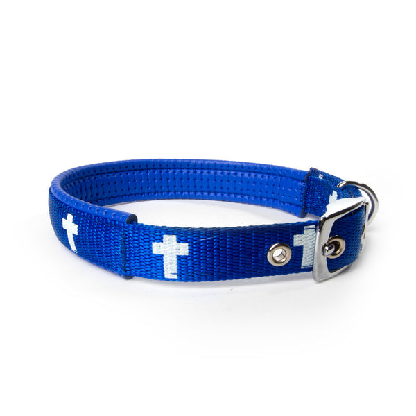 Padded Collar - Cross - Blue