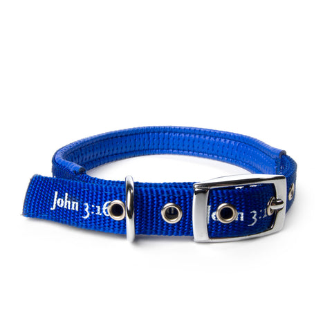 Padded Collar - John 3:16 - Blue