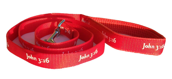 Leash - John 3:16 - Red