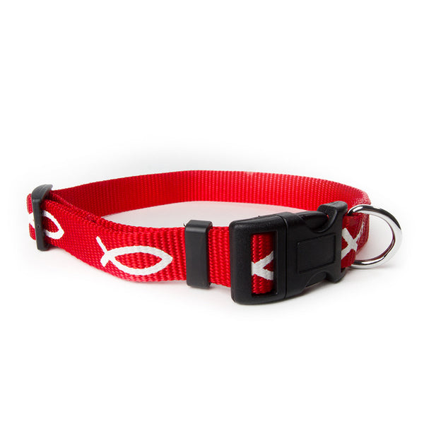 Non-Padded Collar - Fish - Red