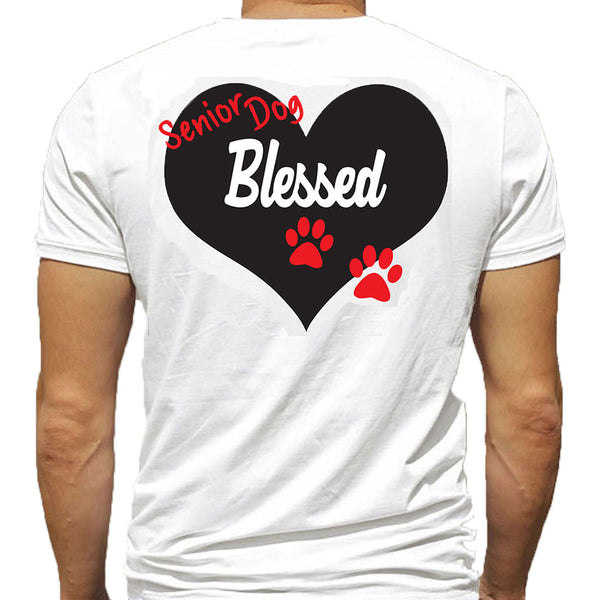 T-Shirt - Senior Dog Blessed - Black or White