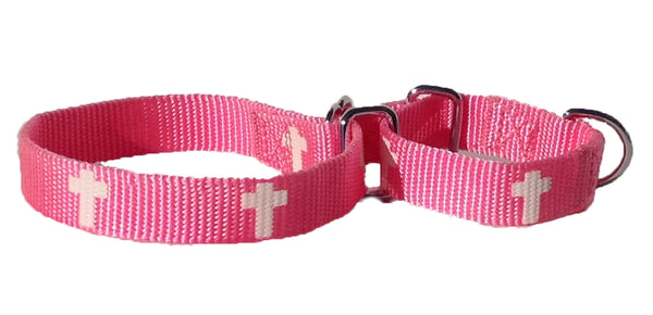Martingale Collar - Cross - Pink