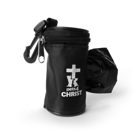 Waste Bag Holder - Pets4Christ - Black
