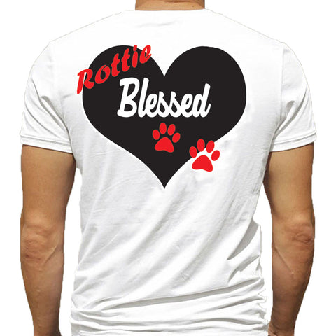T-Shirt - Rottie Blessed - Black or White
