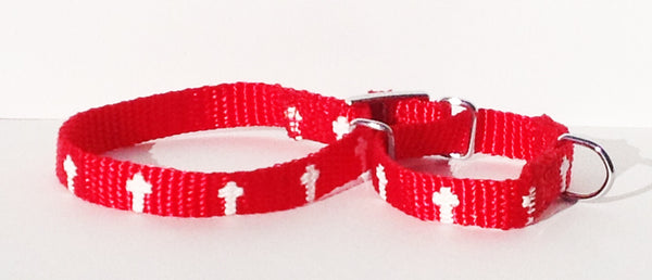 Martingale Collar - Cross - Red