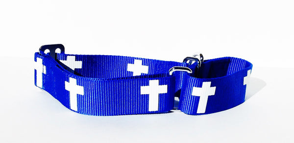 Martingale Collar - Cross - Blue