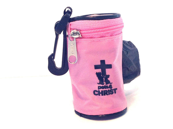 Waste Bag Holder - Pets4Christ - Pink