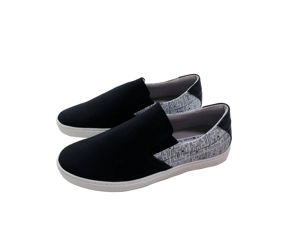 Sapatênis Slip on Estampado Preto