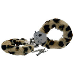Toy Joy Furry Fun Hand Cuffs Leopard Plush