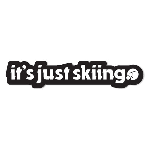 Just Skiing Sticker