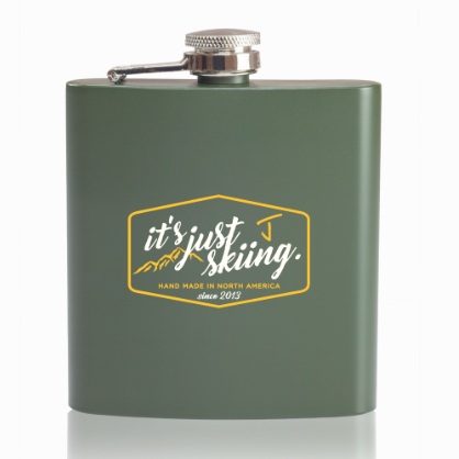 """It's Just Skiing"" Flask"