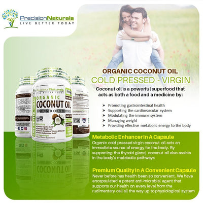 Vegetarian Coconut Oil Capsules