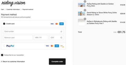 Step 3: Select your payment method.