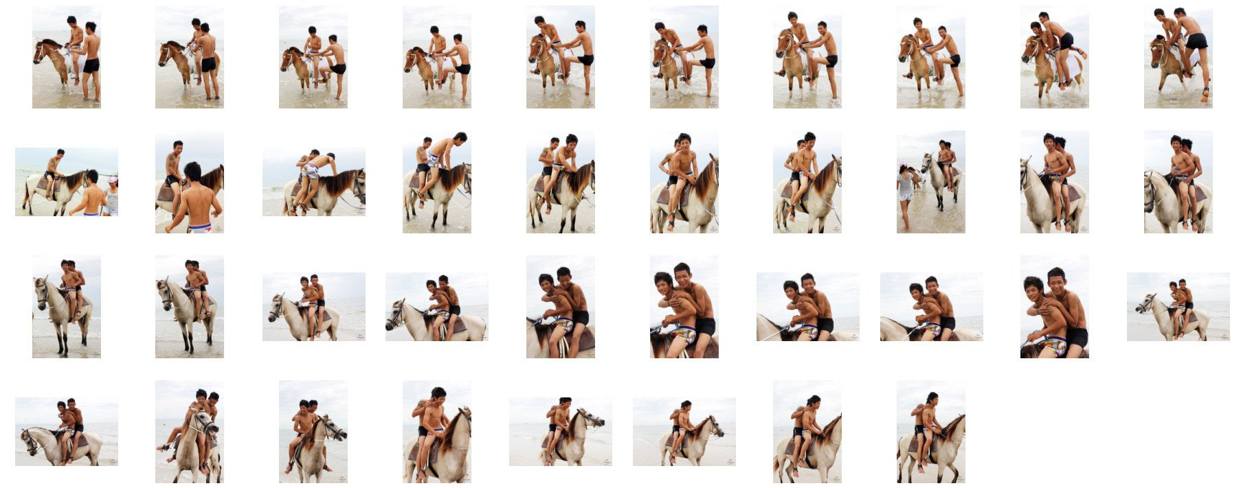 David and Thaksin in Shorts Riding Double with Saddle on Buckskin Horse, Part 3 - Riding.Vision