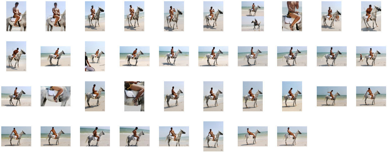 Leon in Brown Sprinter Shorts Riding with Saddle on White Arabian, Part 4 - Riding.Vision