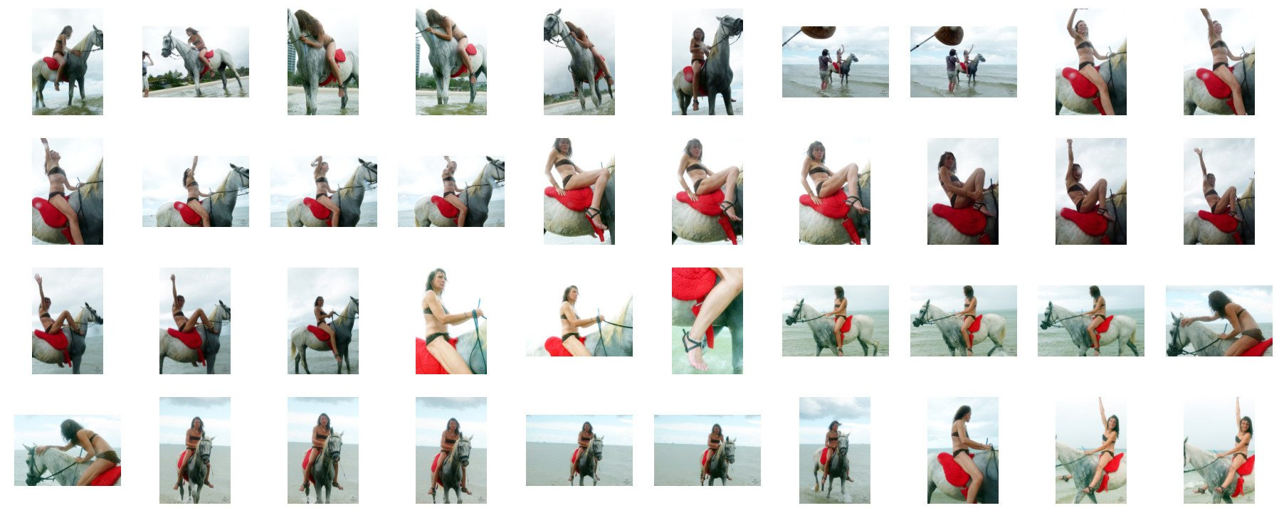 Claire in Bikini Riding Bareback on White Arabian Horse, Part 9 - Riding.Vision