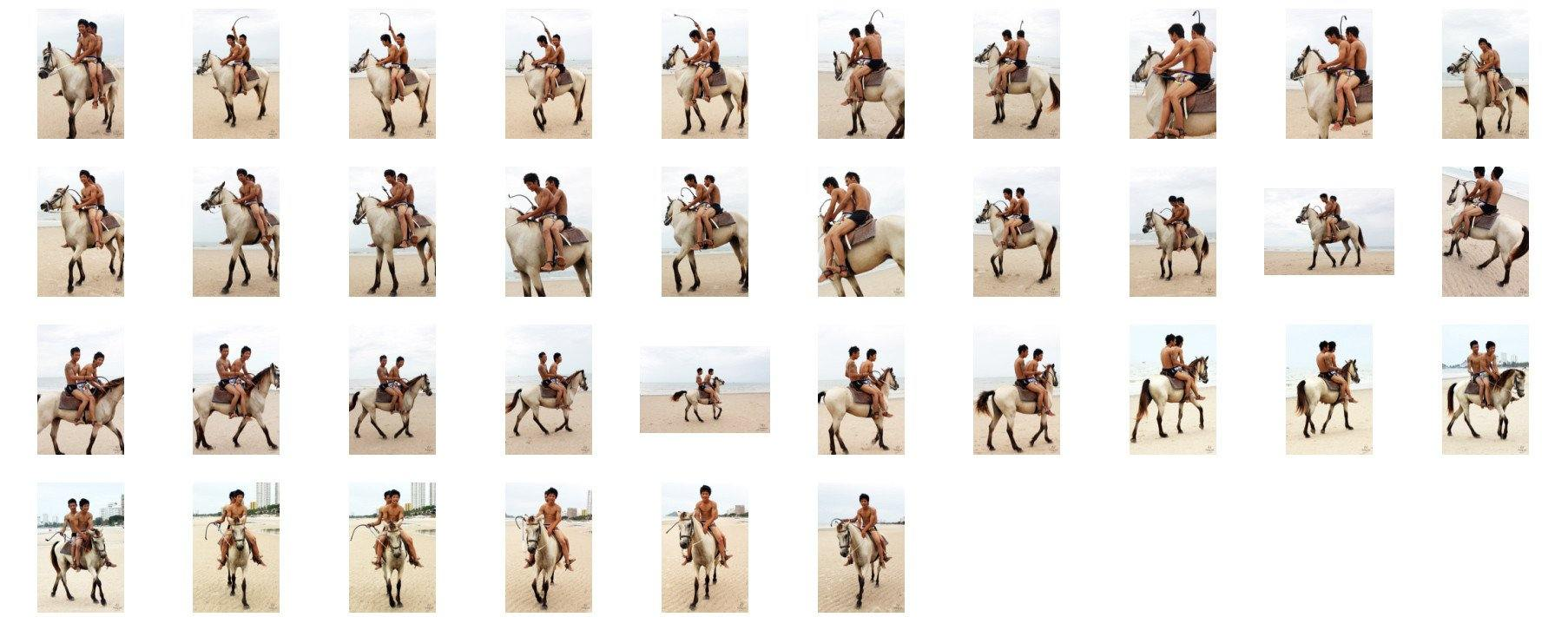 David and Thaksin in Shorts Riding Double with Saddle on Buckskin Horse, Part 10 - Riding.Vision