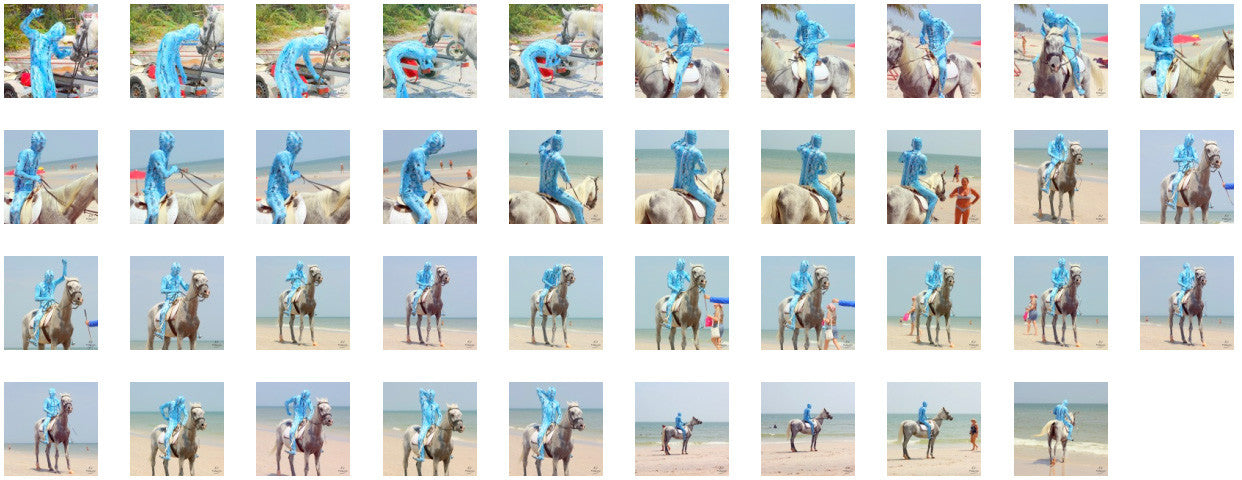 Reptile Zentai Riding with Saddle on White Arabian, Part 1 - Riding.Vision