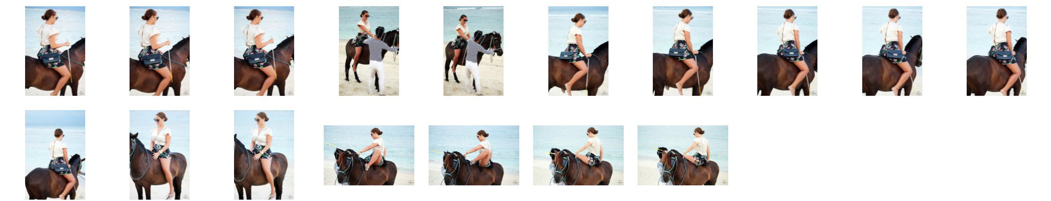 Liz in Skirt with Handbag Riding Bareback on Brown Pony - Riding.Vision