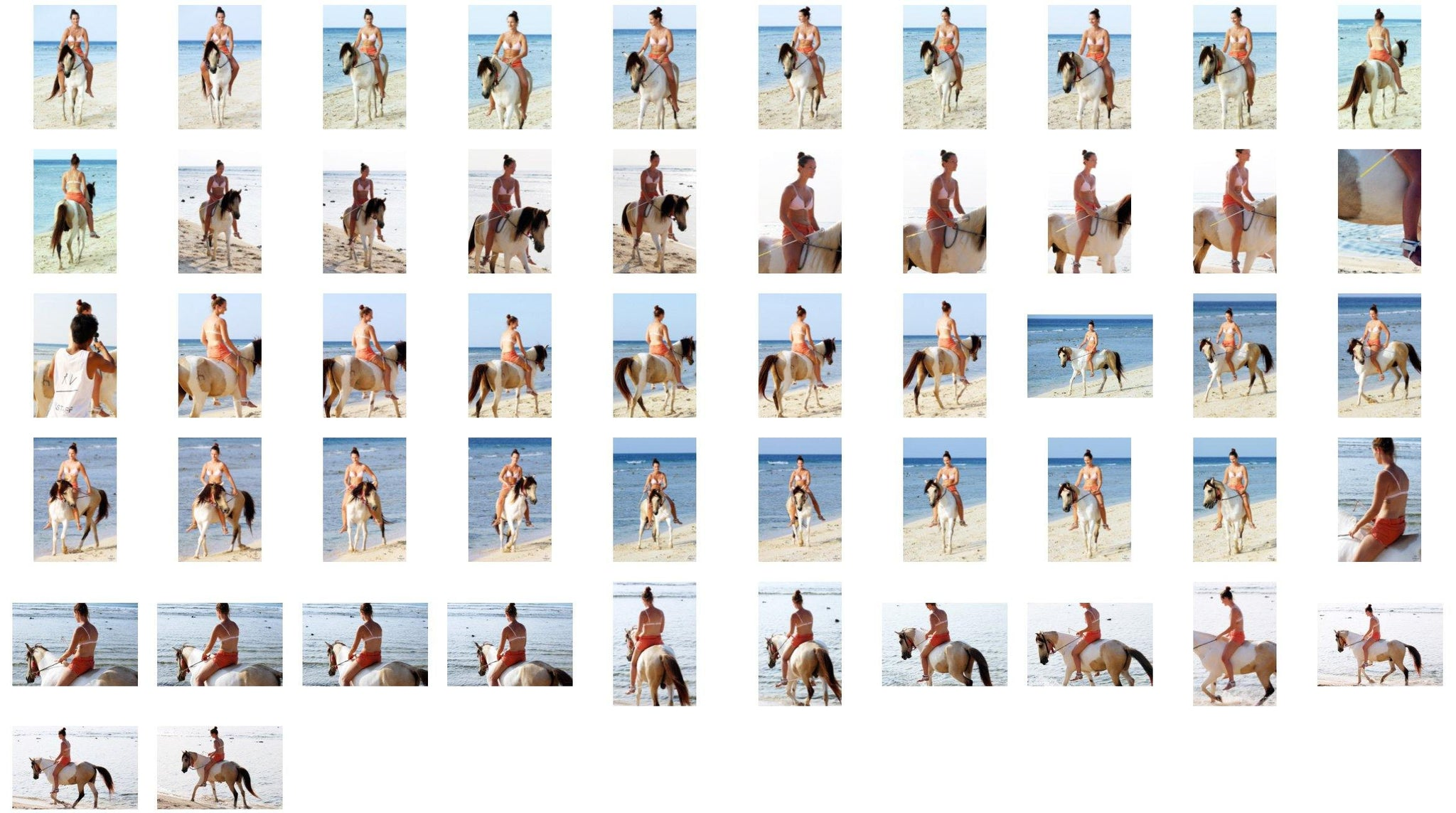 Petra in Bikini Riding Bareback on Buckskin Horse, Part 1 - Riding.Vision