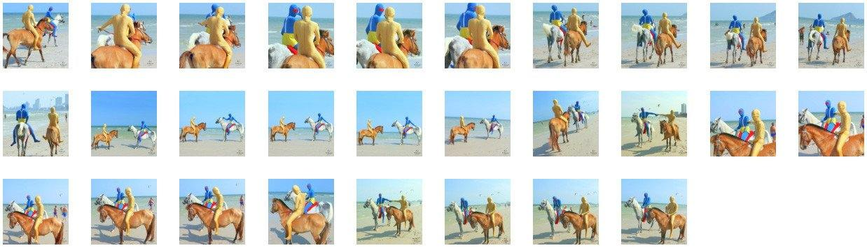 Clown Zentai and Golden Zentai Riding on White Arabian and Golden Pony, Part 1