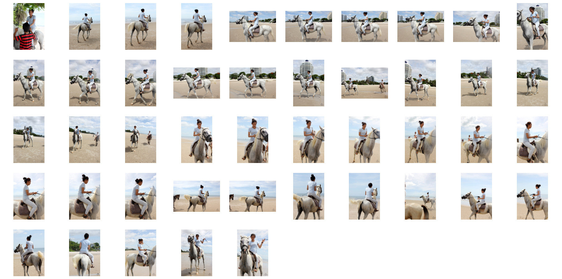 Som in Jodhpurs Riding with Saddle on White Arabian Horse, Part 1 - Riding.Vision