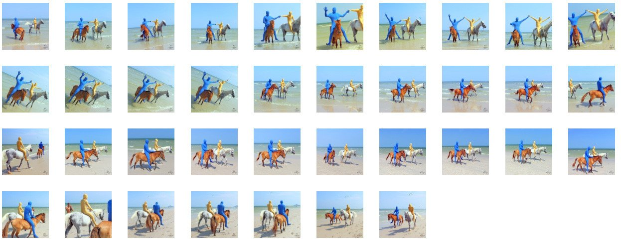 Golden Zentai and Blue Zentai Riding Bareback on Arabian and Pony, Part 1