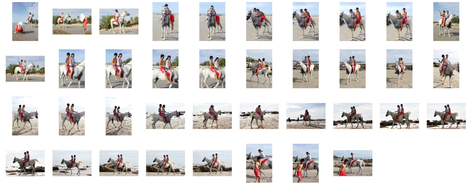 Nam and David Riding DOUBLE on White Arabian Horse - Riding.Vision