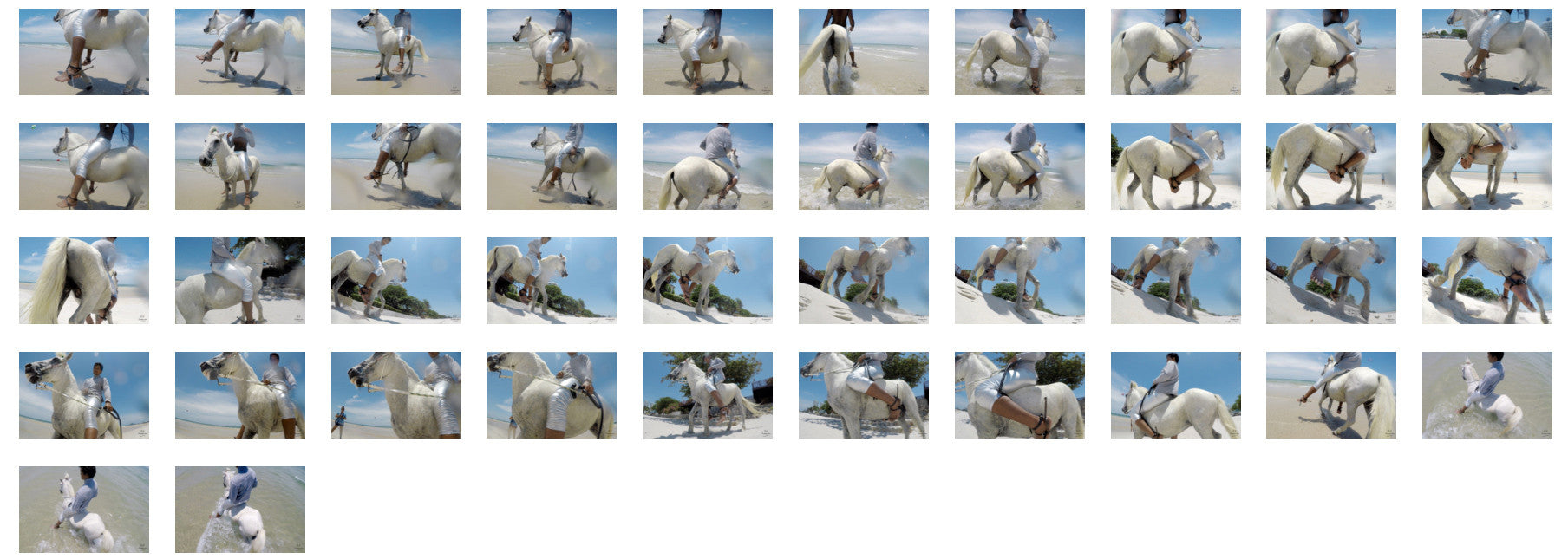 Leon in Silver Leggings and Pullover Riding Bareback on White Pony, Part 1 - Riding.Vision