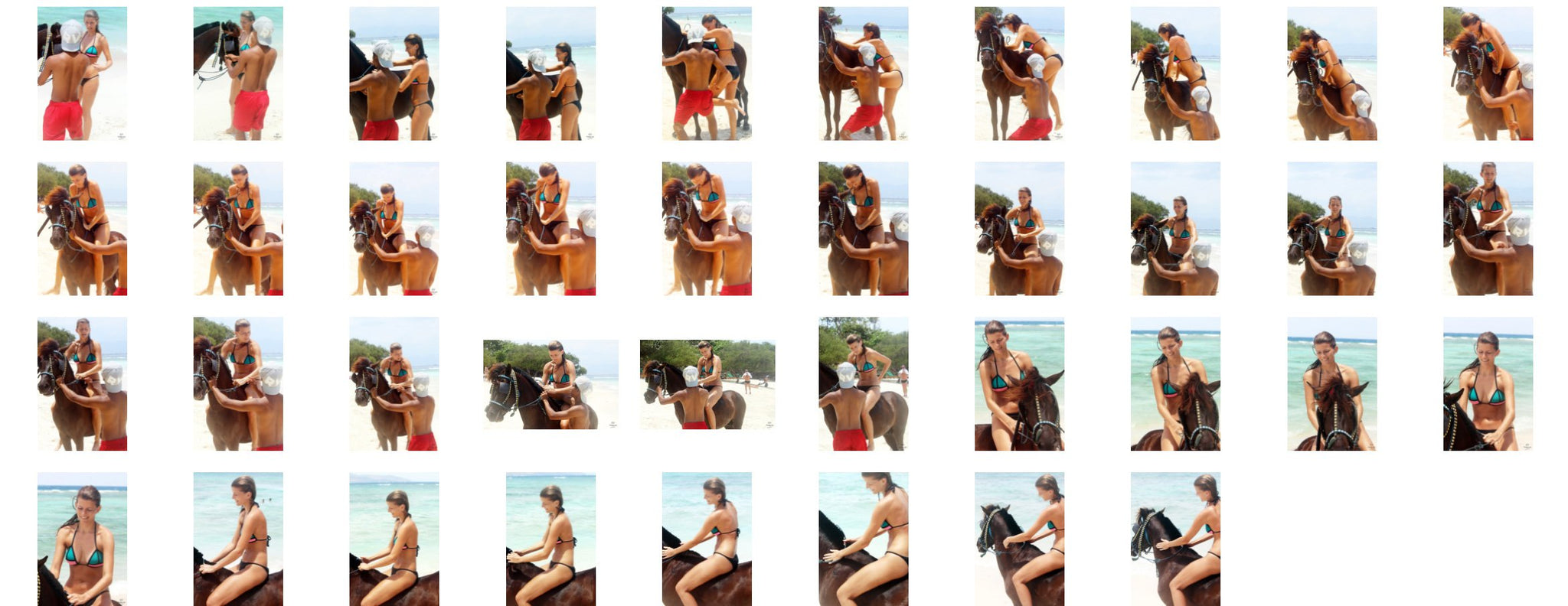 Madison in Bikini Riding Bareback on Brown Pony, Part 1 - Riding.Vision