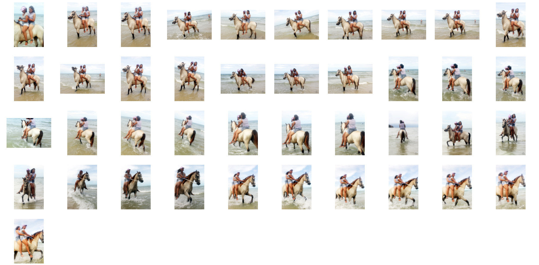 Nam and Titaporn Riding DOUBLE Bareback on Buckskin Horse, Part 2 - Riding.Vision