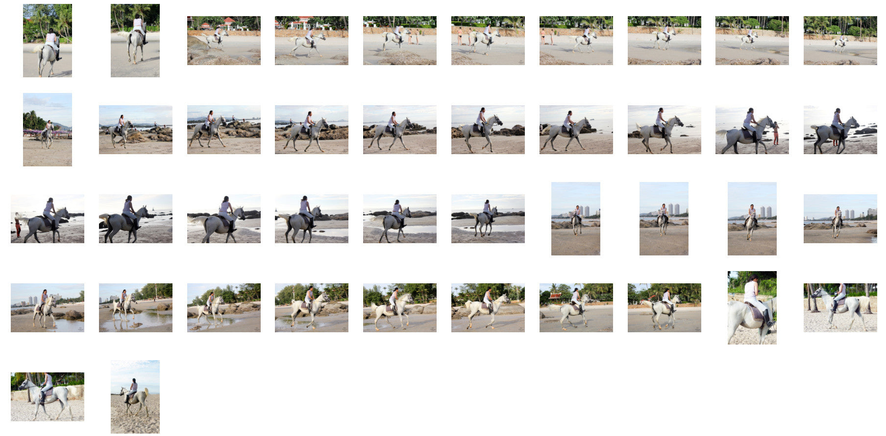 Nam in Jodhpurs Riding with Saddle on White Arabian Horse, Part 2 - Riding.Vision
