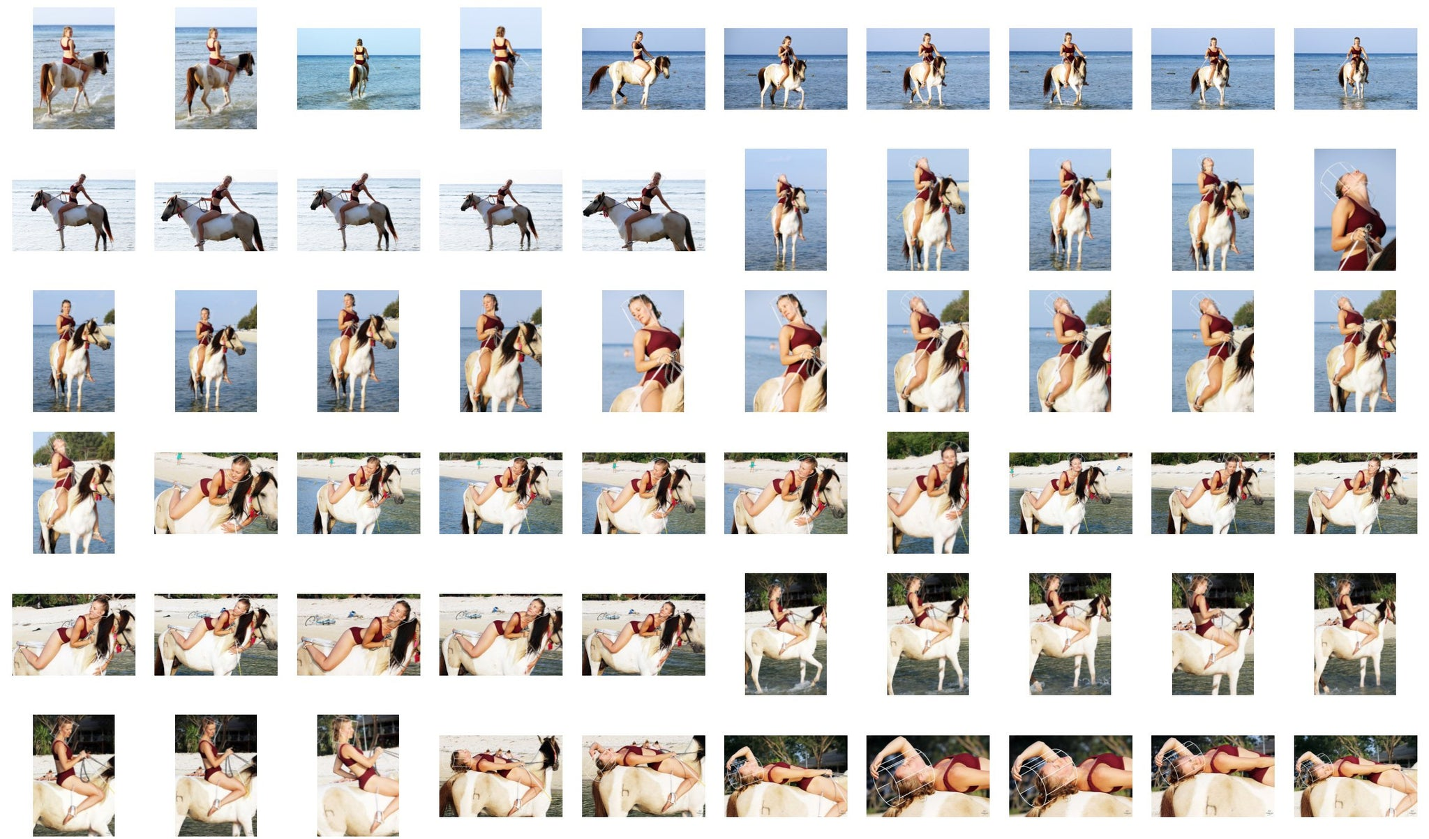 Victoria (Yoga Teacher) in Bikini Riding Bareback on Buckskin Horse, Part 2