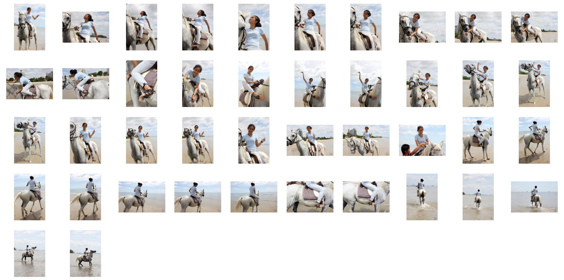 Som in Jodhpurs Riding with Saddle on White Arabian Horse, Part 2 - Riding.Vision