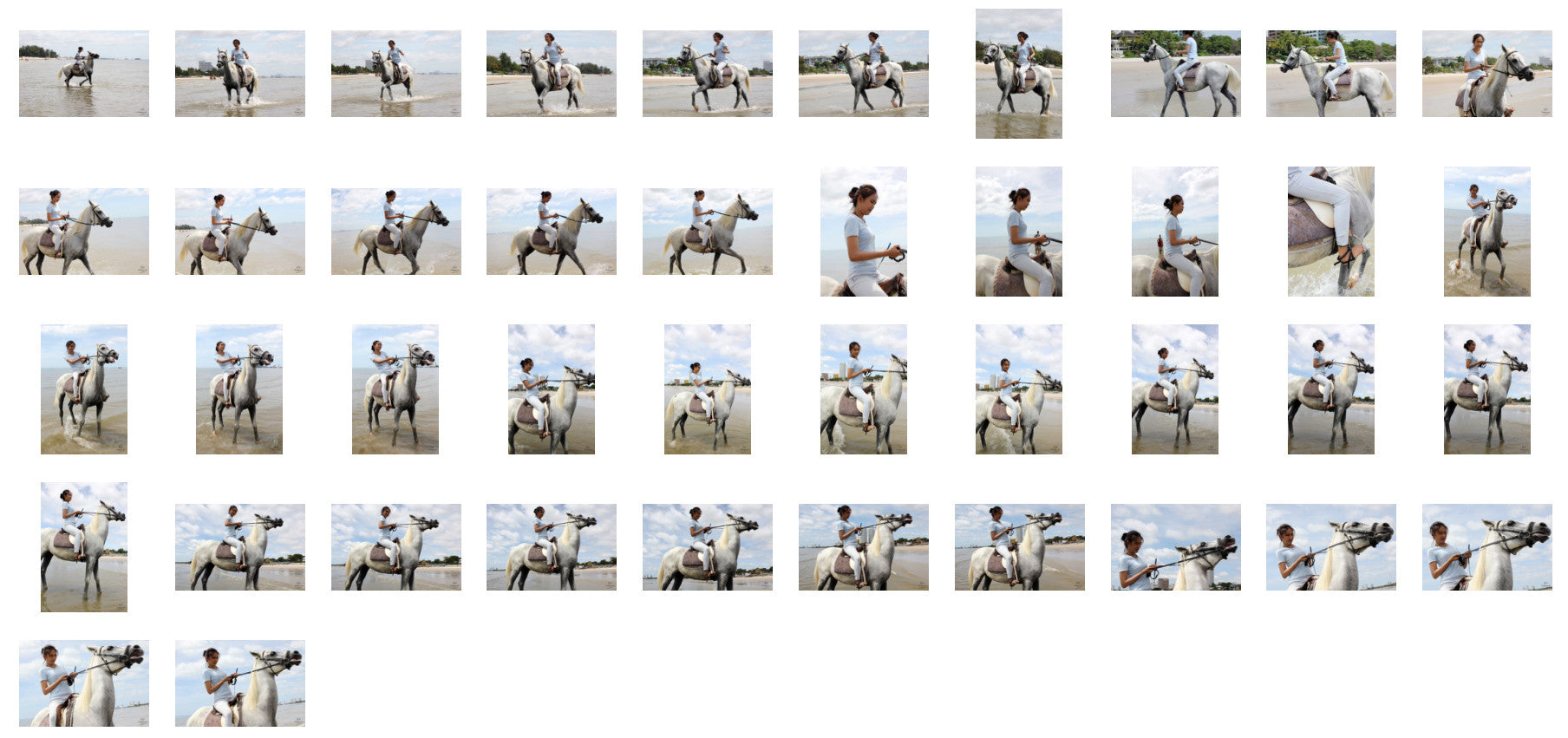 Som in Jodhpurs Riding with Saddle on White Arabian Horse, Part 3 - Riding.Vision