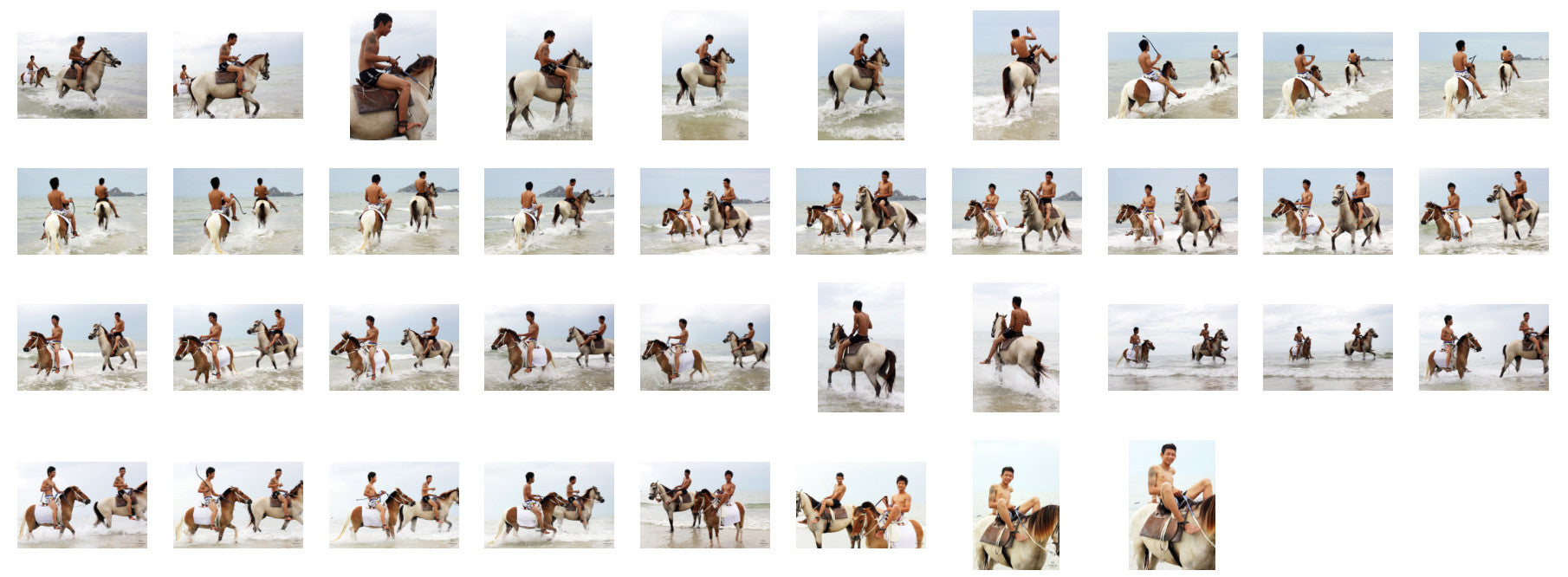 Thaksin in Black Spandex Riding with Saddle on Buckskin Horse, Part 3 - Riding.Vision