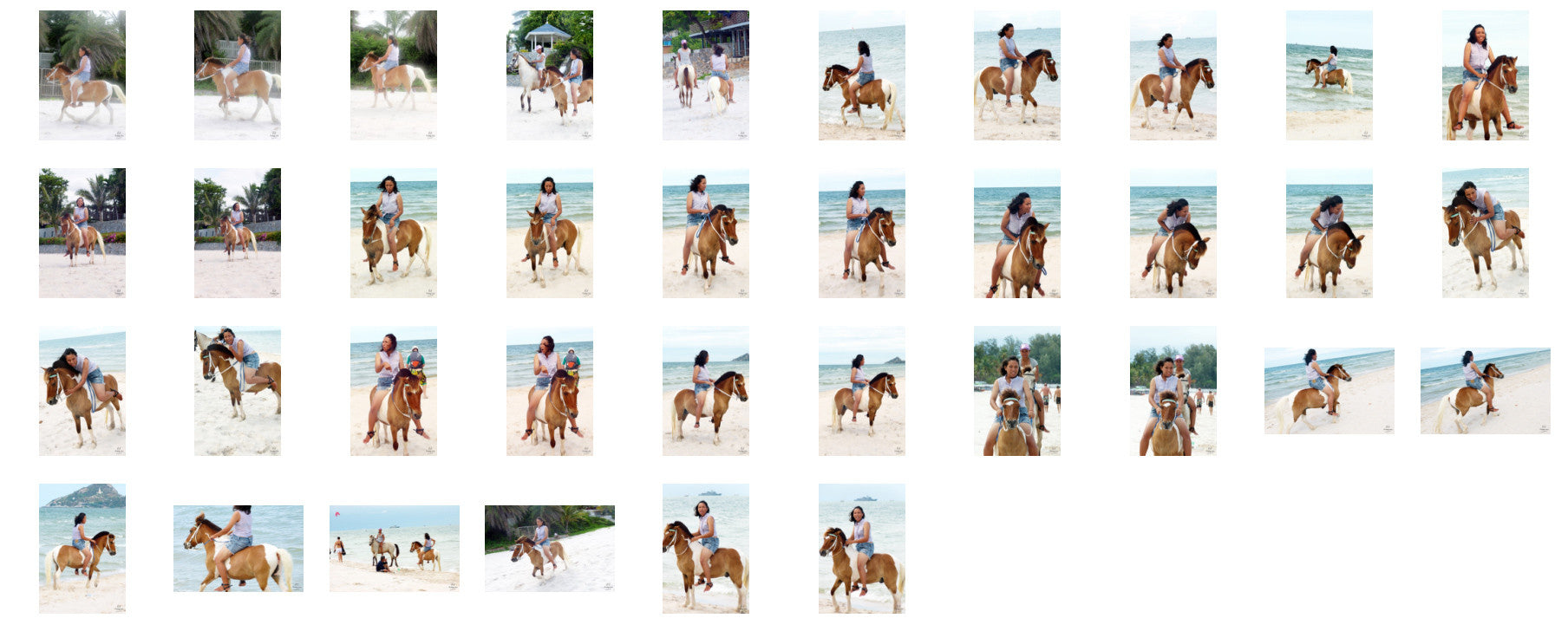 Nam in Hotpants Riding Bareback on Brown-White Pony, Part 3 - Riding.Vision