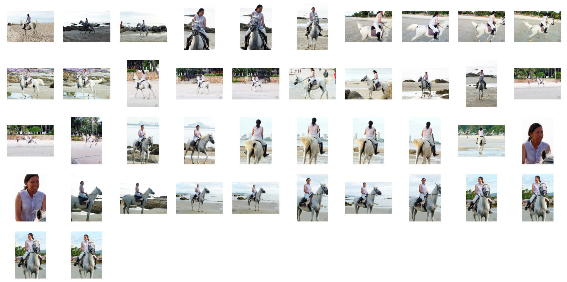 Nam in Jodhpurs Riding with Saddle on White Arabian Horse, Part 3 - Riding.Vision