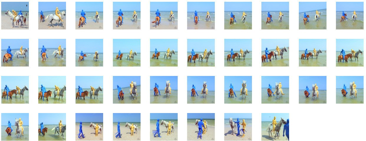 Golden Zentai and Blue Zentai Riding Bareback on Arabian and Pony, Part 4 - Riding.Vision